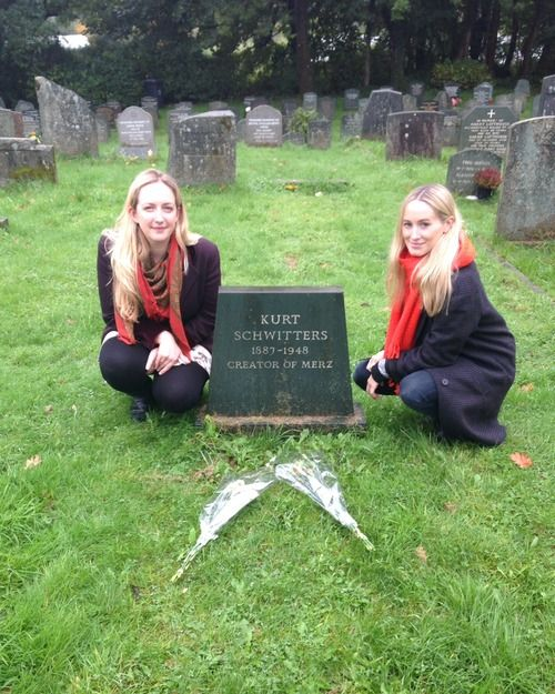 Kate and Alex visit Schwitters' grave in Ambleside. He also has a grave in Germany.