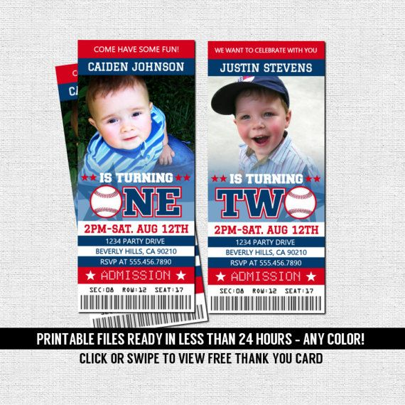 Ticket Invitations First Birthday Party