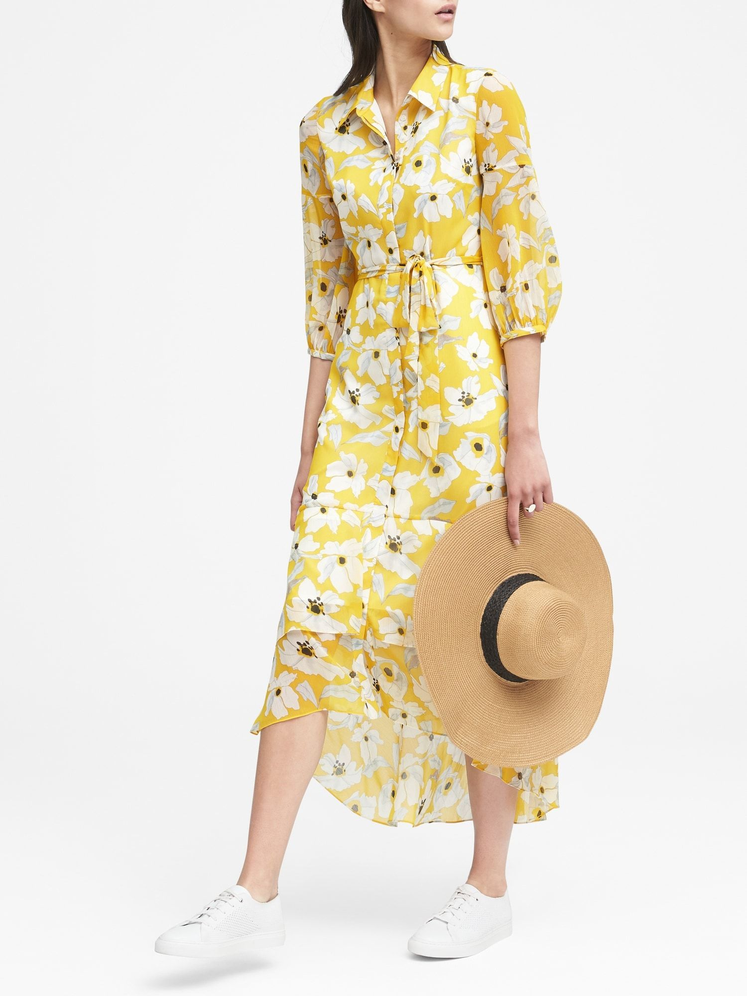 62d0dd81a854 Floral Tiered Maxi Shirt Dress | Banana Republic | All about the ...