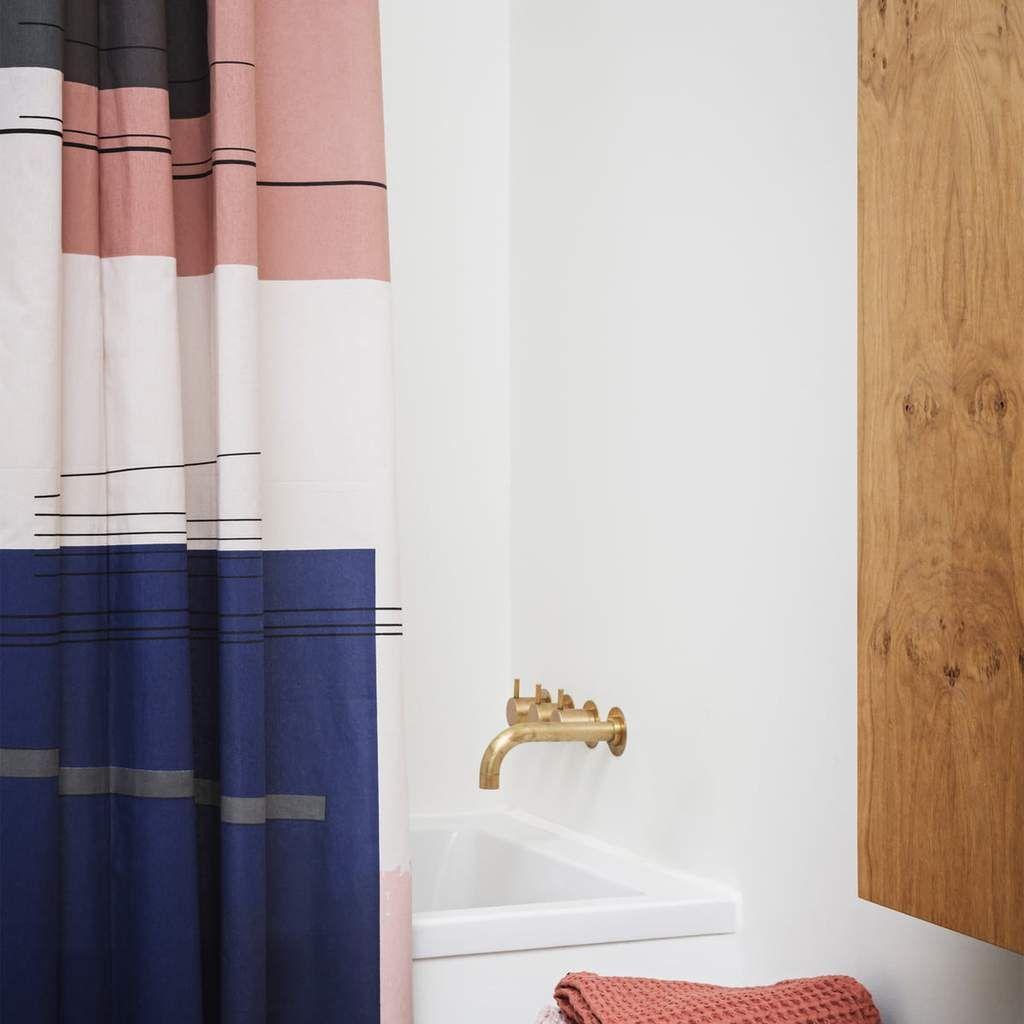 Colour Block Shower Curtain By Ferm Living Shower Curtain