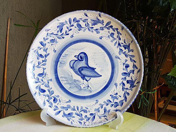 Piatto decorativo in ceramica siciliana. piatto da appendere. le