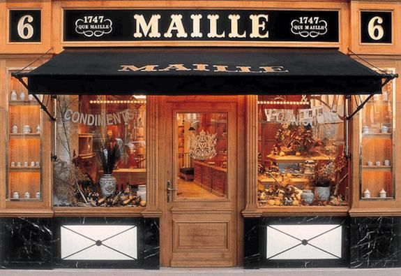 facade from maille shop french most famous mustard brand where 6 place de la madeleine. Black Bedroom Furniture Sets. Home Design Ideas