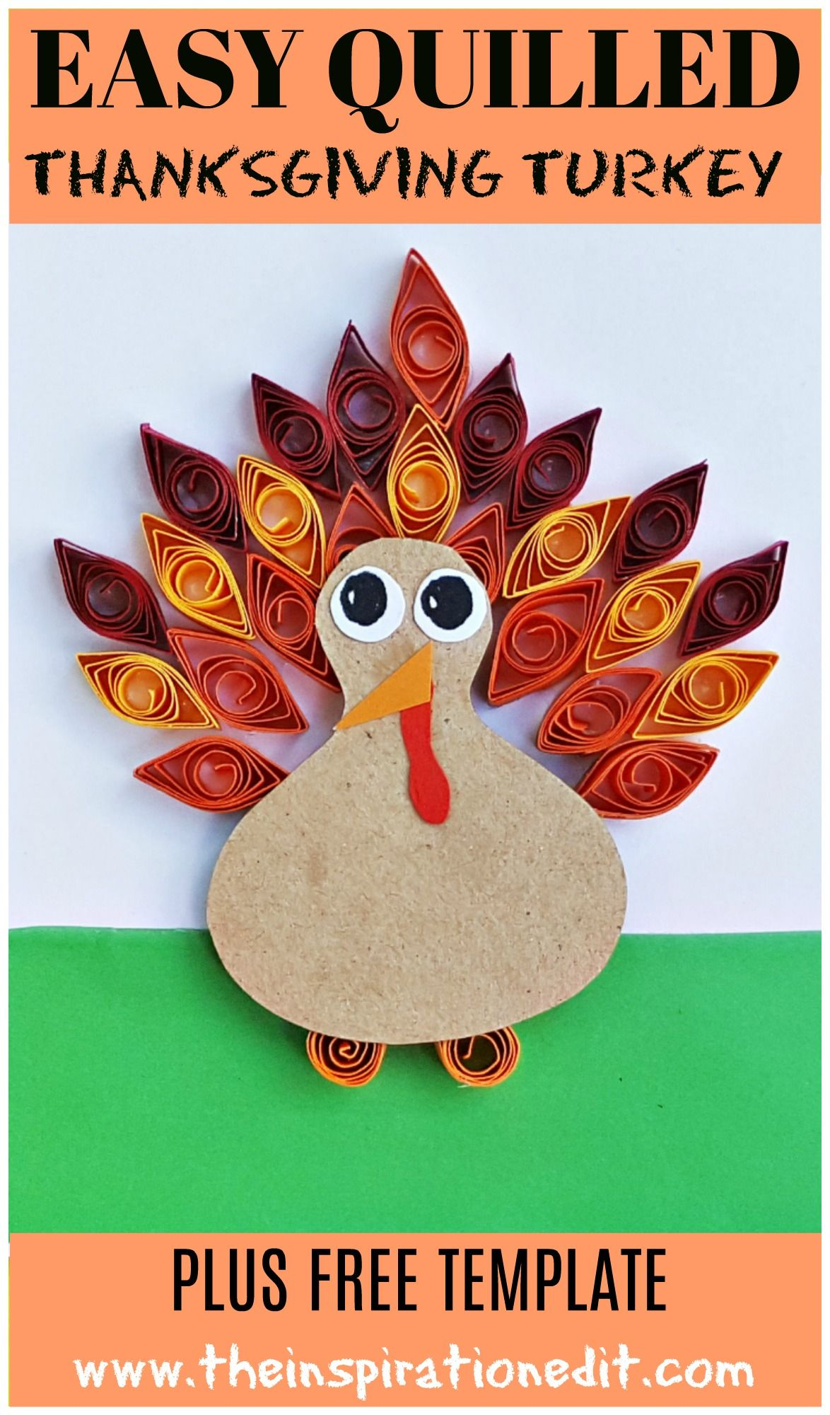 Easy Paper Quilled Thanksgiving Turkey Craft Kids Activities 101