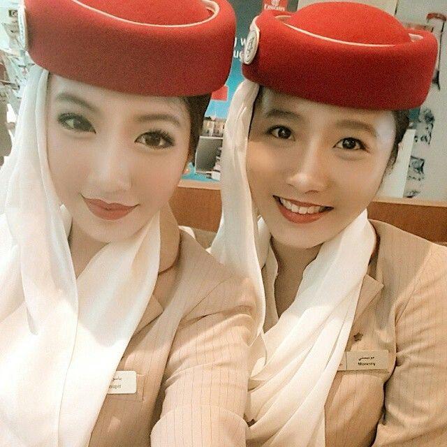 Emirates stewardess crewfie @pinnydee | cabin crew ...