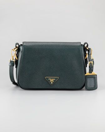 Saffiano Lux Messenger Bag by Prada at Neiman Marcus.