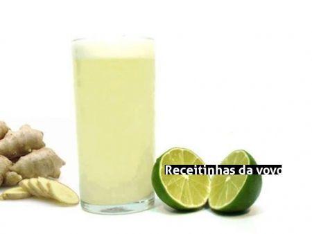 Receita Receita de suco de limão com gengibre para EMAGRECER.