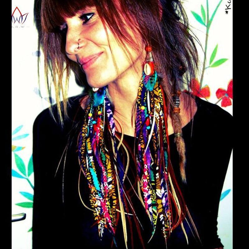 Fabric Handmade African Tribal Earrings