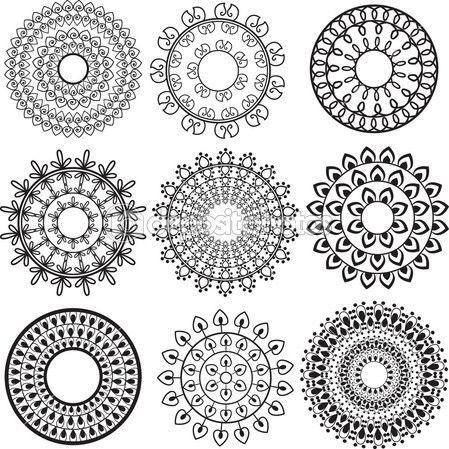 indian mandala designs - Google Search