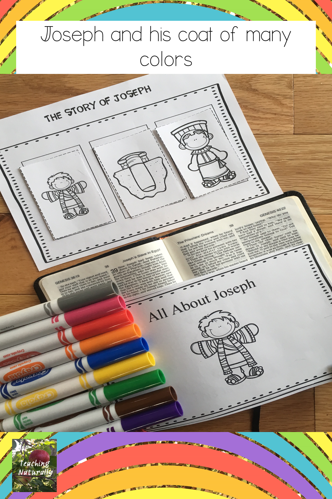 Joseph And His Coat Of Many Colors Bible Lesson All About Series