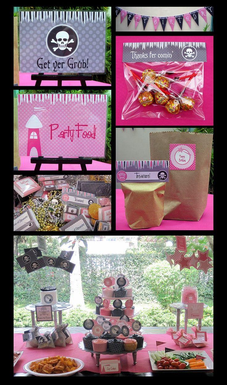 Pirate Princess Birthday Party | Birthday Party Printable Invitation ...