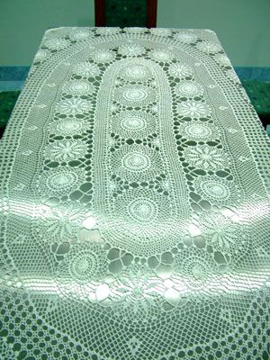 Pineapple tablecloth crochet pattern . - Crafts - Free Craft ...
