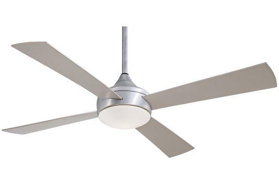 Minka Aire Aluma Wet Brushed Aluminum 52 Inch Ceiling Fan Ceiling Fan With Light Ceiling Fan Minka Aire Ceiling Fan
