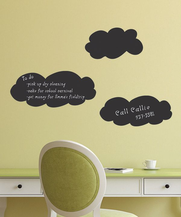 Take a look at this Chalkboard Cloud Wall Decal Set on zulily today ...
