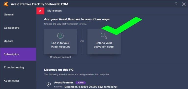 Avast Premier Licence Key + Activation Code Work till 2050 ...