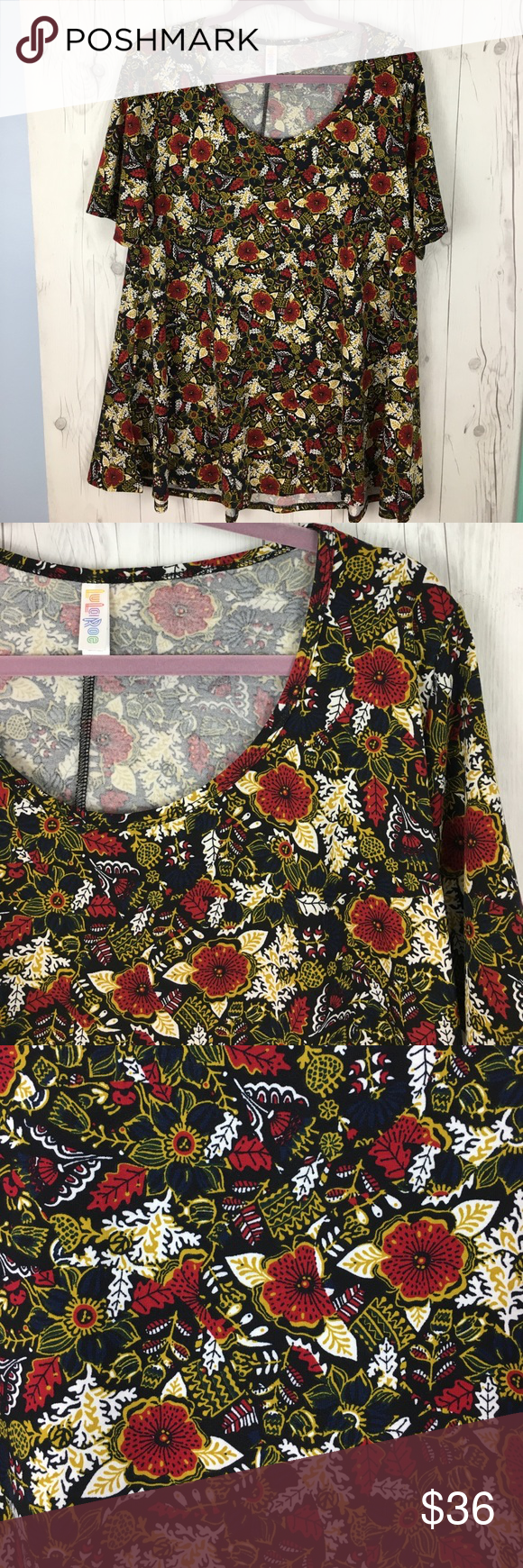 Lularoe Perfect T Lularoe Perfect T, never worn, new with tags. Size L. Background is black! LuLaRoe Tops Tees - Short Sleeve