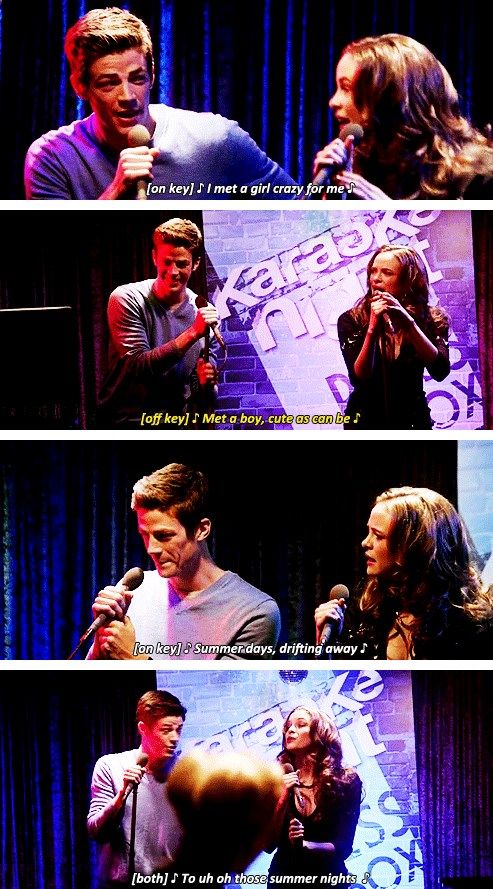 The Flash 1x12 #CrazyForYou #Snowbarry THIS WAS THE BEST. BARRY SANG. IT WAS BEAUTIFUL.