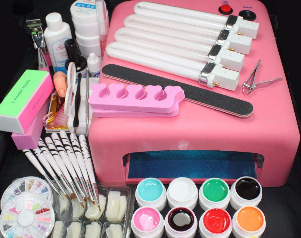 Full Kit Diy Nail Art Kit Pinterest