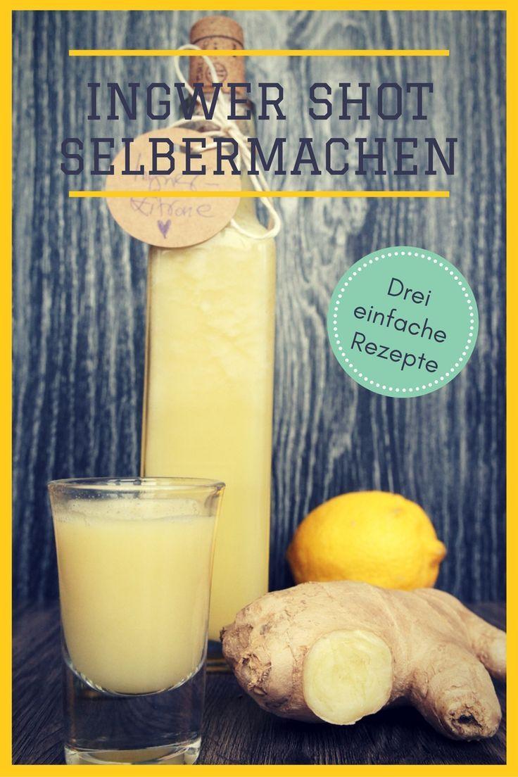 Schnelle Ingwer Shot Rezepte: 3 genial-einfache Ideen zum Selbermachen   Nicole Just - Vegane Rezepte - Vegan kochen leichtgemacht