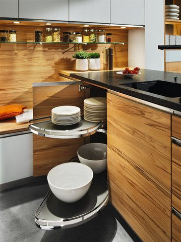 Linee Kitchen kitchens Pinterest Corner unit, Wood types and