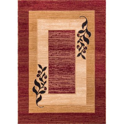 Found it at Wayfair - Dulcet Whisper Twigs Red/Brown Area Rug
