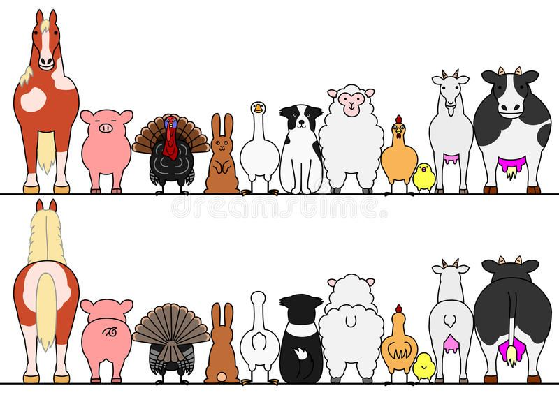 Farm Animals In A Row Front And Back Sponsored Sponsored Paid Farm Row Front Animals Farm Animals Animal Silhouette Art
