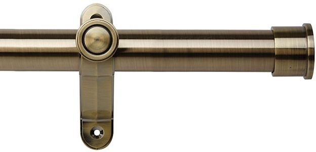Galleria Metals 35mm Eyelet Curtain Pole Burnished Brass End Cap