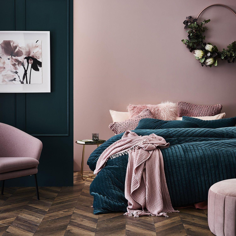Blush and teal bedding ideas para el hogar en 2019 for Color de pintura al aire libre casa moderna