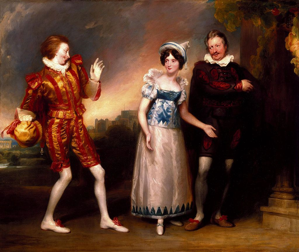 Master Page, Anne Page, and Slender by John Downman, Welsh Portrait Painter.