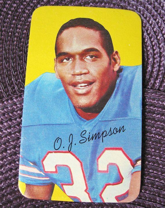 Vintage Oj Simpson Topps Trading Card Rookie Buffalo Bills