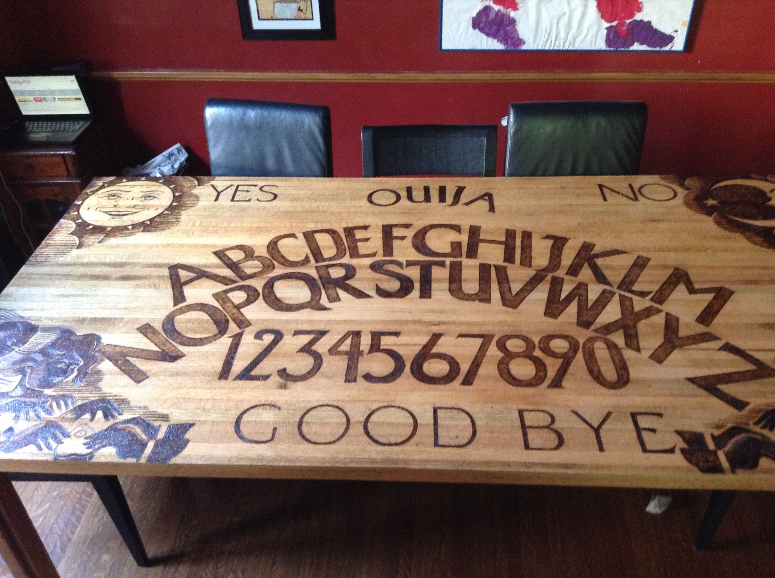 Amazing ouija board table The dining room table was 20 years old