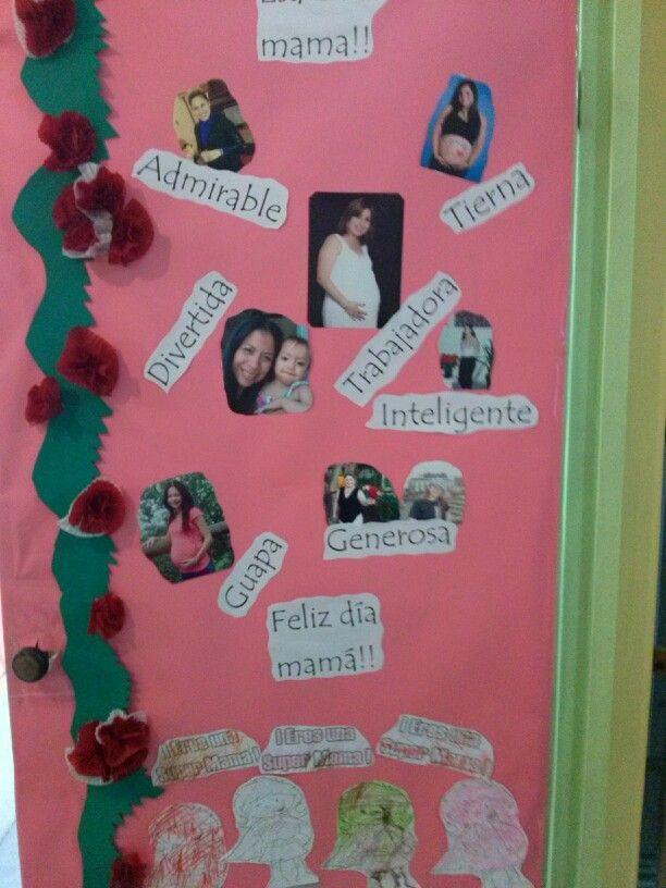 puerta decorada dia de las madres preescolar