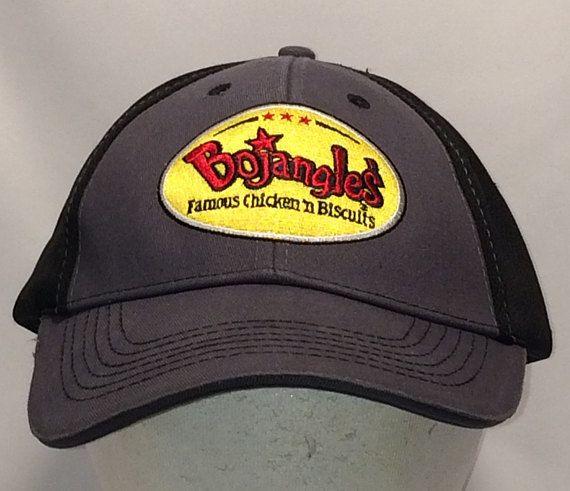 4aa5fdc2ab9 Vintage Baseball Cap Hats For Men Bojangles Chicken Hat Food Employees  Restaurant Hat Black Grey Dad
