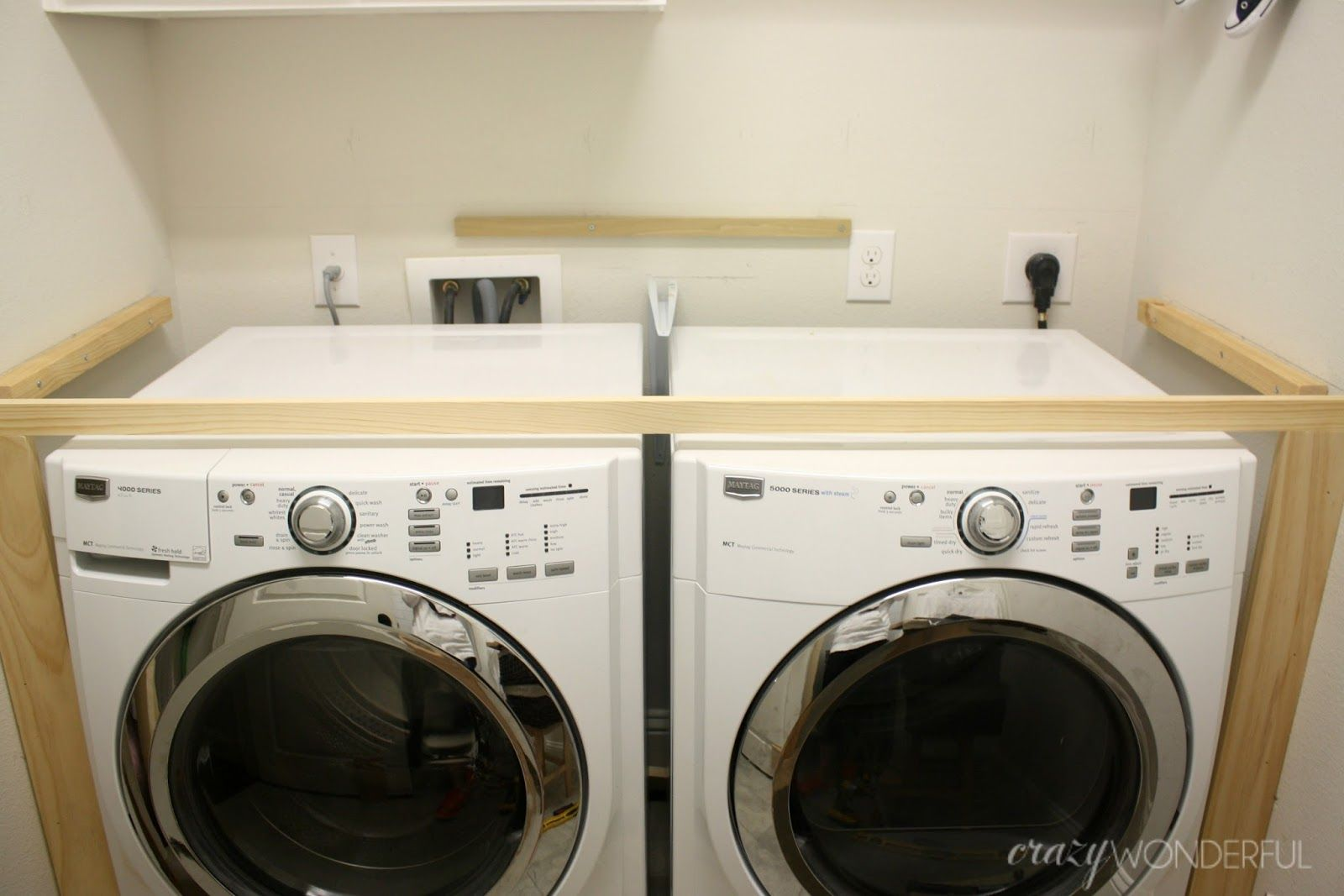 Diy Built In Washer Dryer Laundry Room Diy Laundry Room Countertop Diy Laundry