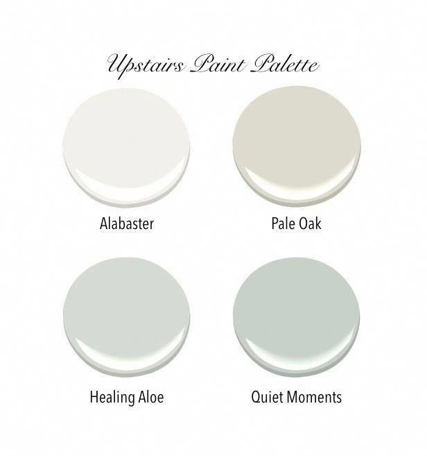 All bedroom walls will be Pale Oak. Master bedroom ceiling will be Quiet Moments. All trim and the hallway will be Alabaster. All paint is Benjamin Moore. #Coastalbedrooms #homeinteriorcolorschemes #masterbedroompaintcolors