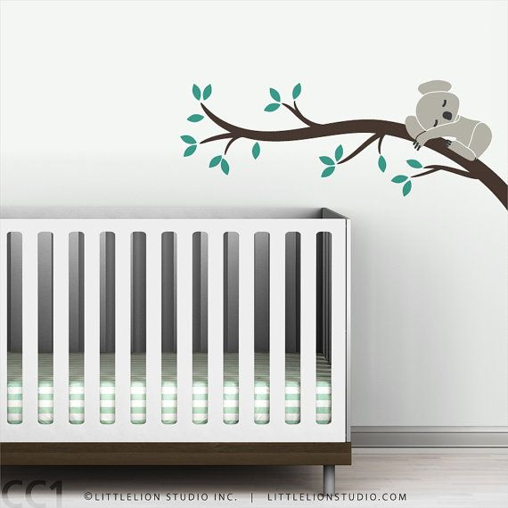Kids Baby Nursery Wall Decal Koala Tree