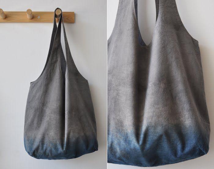 dip dyed market bag teinture tie and dye shibori pinterest sac couture et couture sac. Black Bedroom Furniture Sets. Home Design Ideas