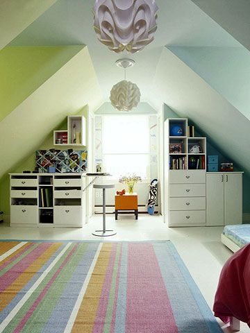 How To Make The Ultimate Study Station For Your Kids Attic Playroom