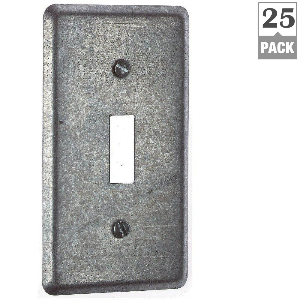 Steel City 1 Gang 4 In Utility Metal Box Cover Case Of 25 Metal Box Covered Boxes Metal Electrical Box