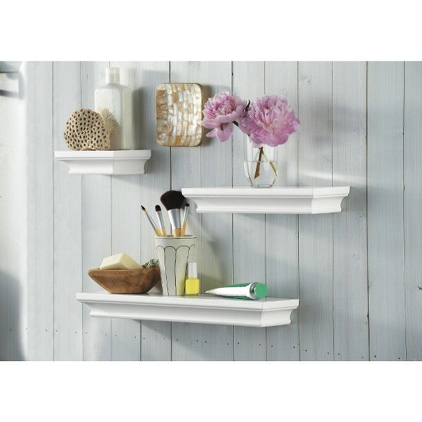 Threshold Floating Shelves New Threshold™ 3 Wall Shelf Set  White  Target  Big Girl Room Design Ideas