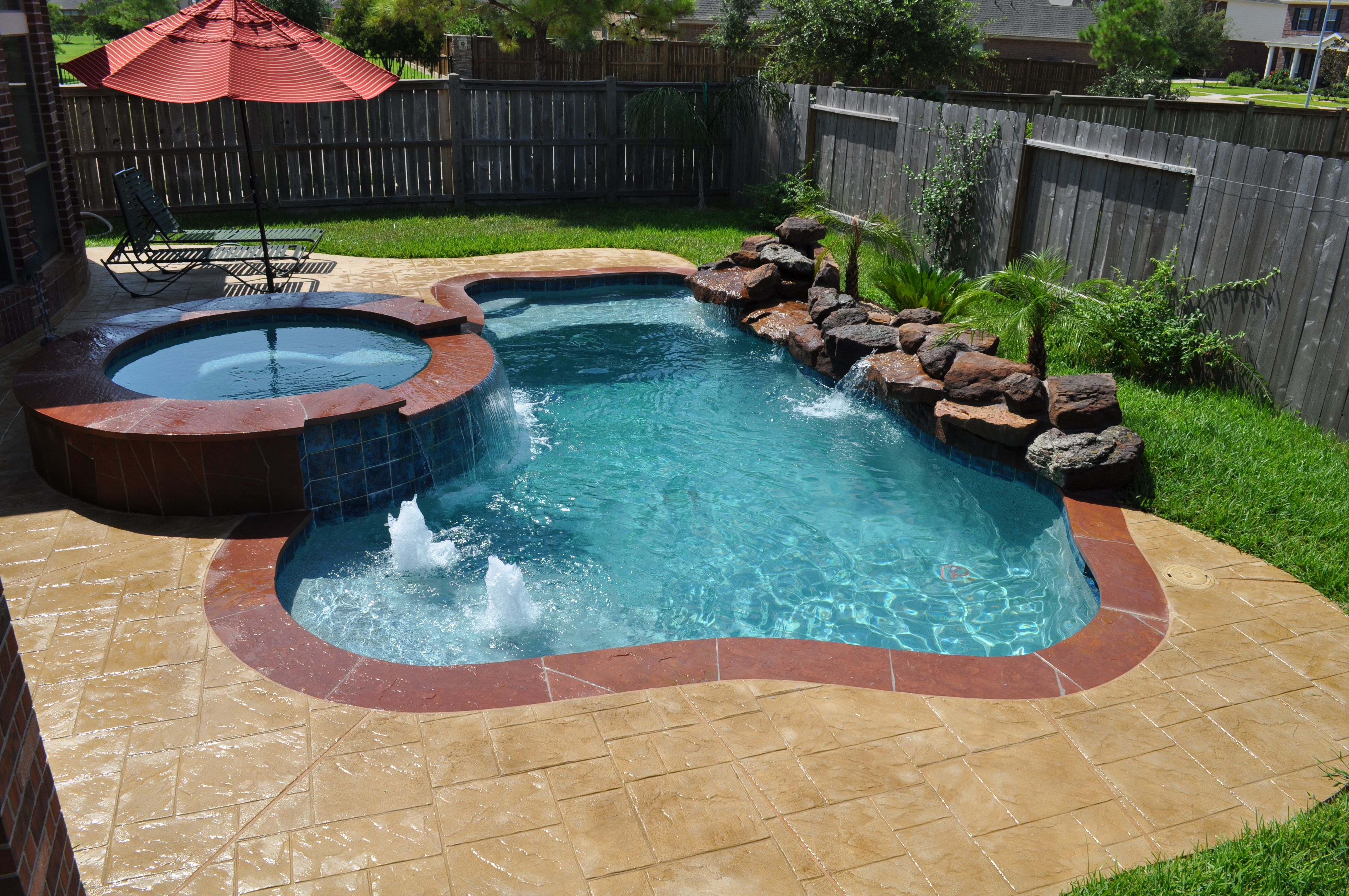 This small pool and spa in katy tx houston tx features - Above ground swimming pools houston ...
