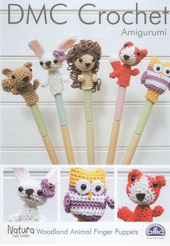 DMC L 15213/2 títeres de dedo animales bosque Amigurumi Crochet ...