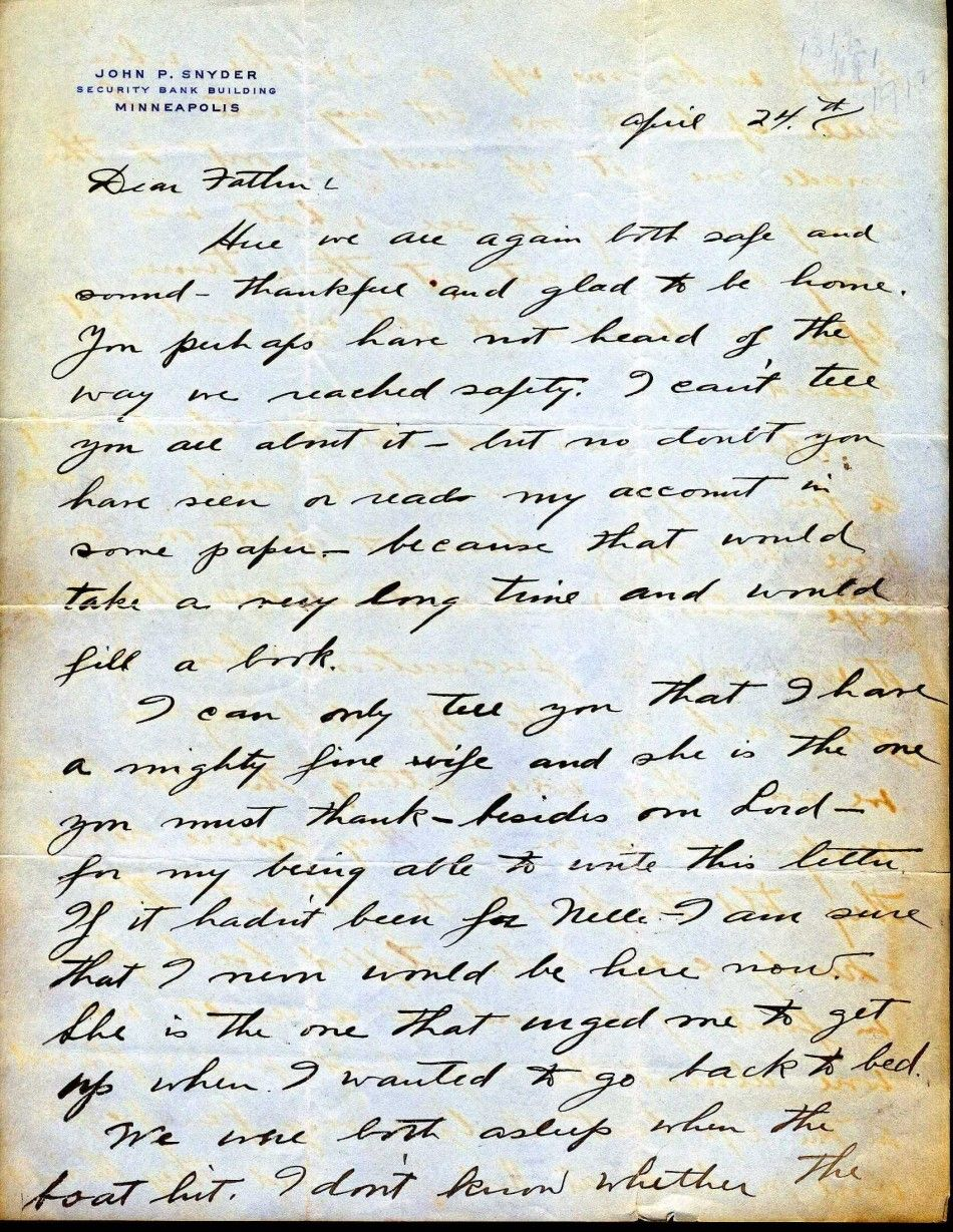 Letter from the Titanic 1/4
