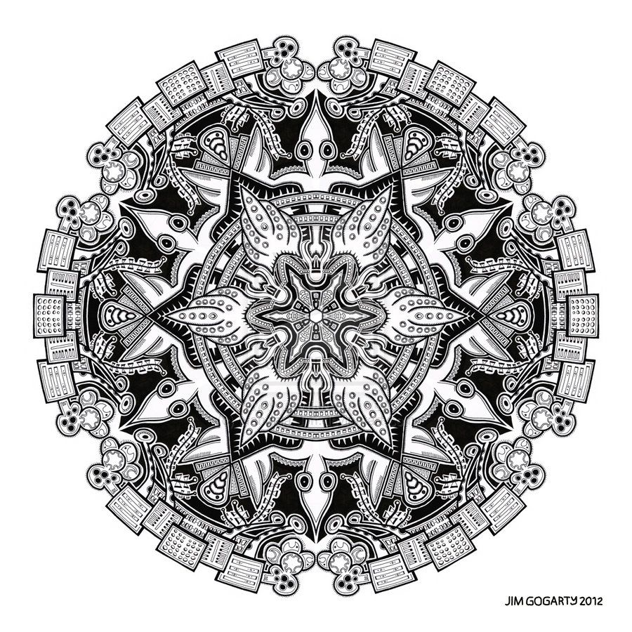 The mandala coloring book jim gogarty - Mandala By Jim Gogarty