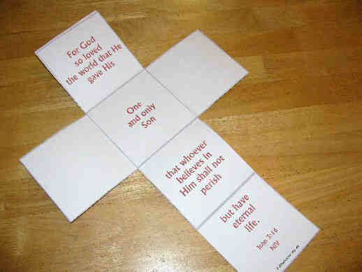 This is the same as the Christmas Cross Card which opens to a - free printable religious easter cards