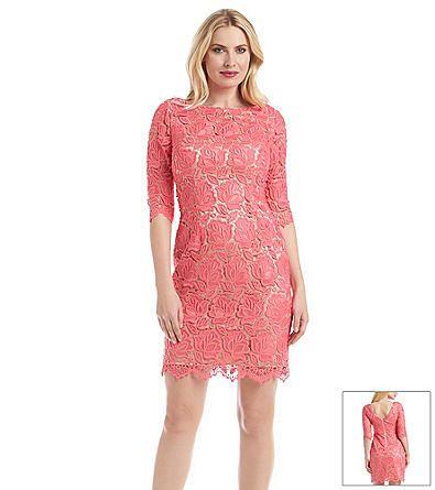 Eliza J Pink® Lace Shift Dress | Herberger's