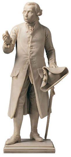 "Christian Daniel Rauch: Skulptur ""Immanuel Kant"", Version in Kunstmarmor"