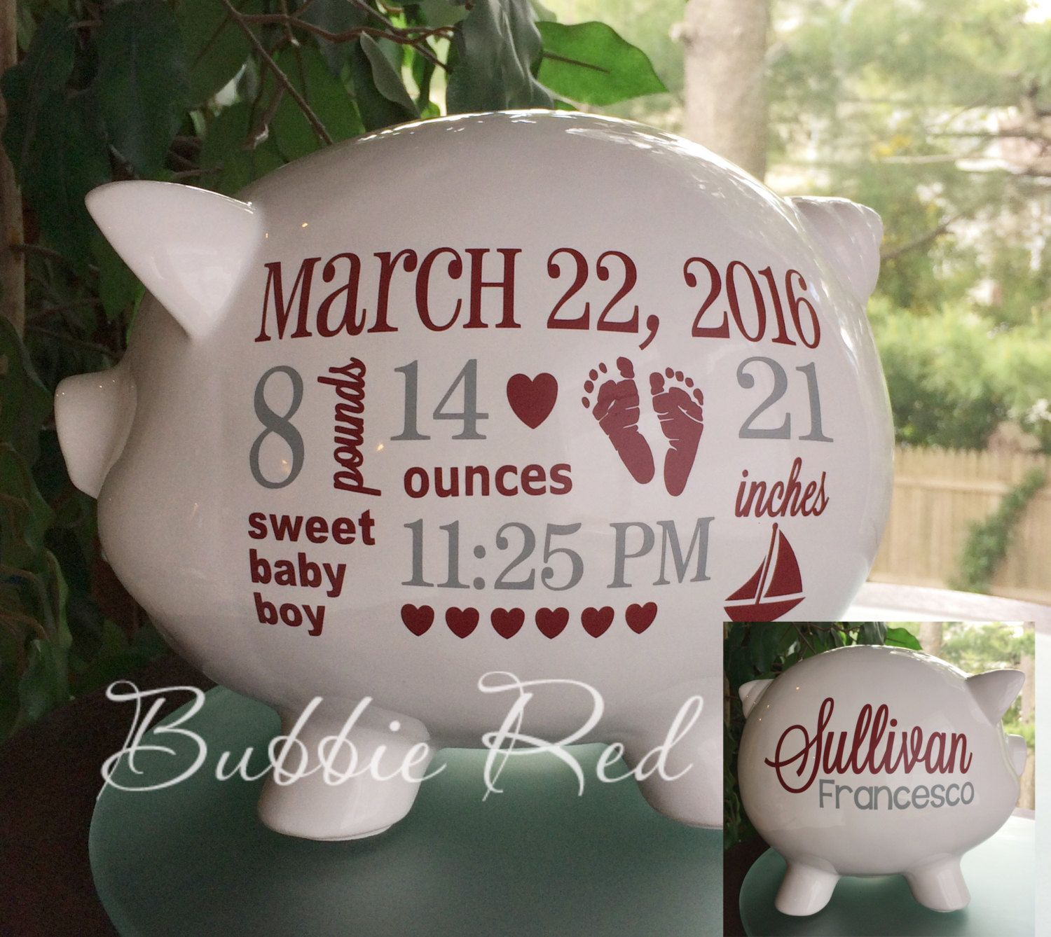 College colors personalized piggy bank custom piggy bank baby college colors personalized piggy bank custom piggy bank baby birth stats college baby negle Images