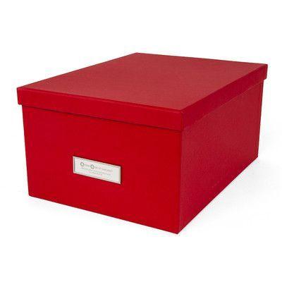 Bigso Gustav Media Box Color: Red