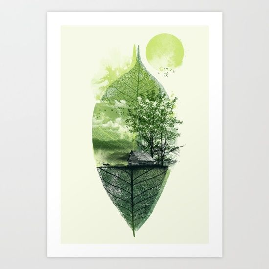 Live in nature art print by dzeri29 worldwide shipping available at society6 com