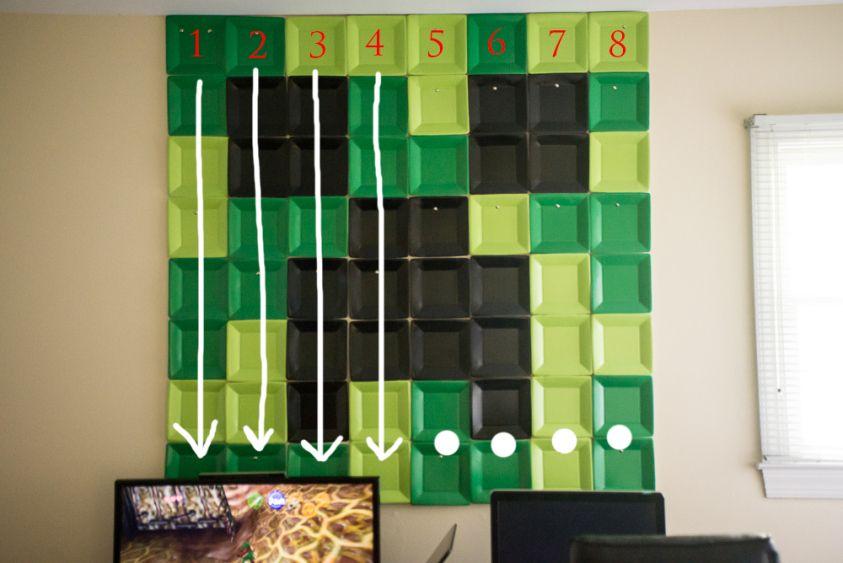 Minecraft Creeper Wall Art Diy Minecraft Wall Diy Wall Art Minecraft Bedroom Decor